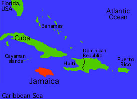 Mysilversands Map Of The Caribbean - Jamaica map caribbean sea