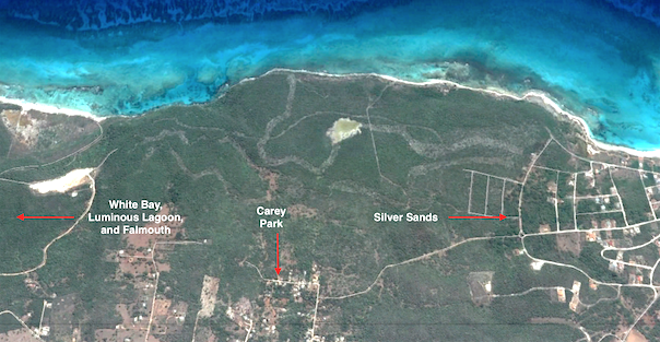 Chuckys country trail from silver sands jamaica villas close up google view of carey park area near silver sands jamaica gumiabroncs Images