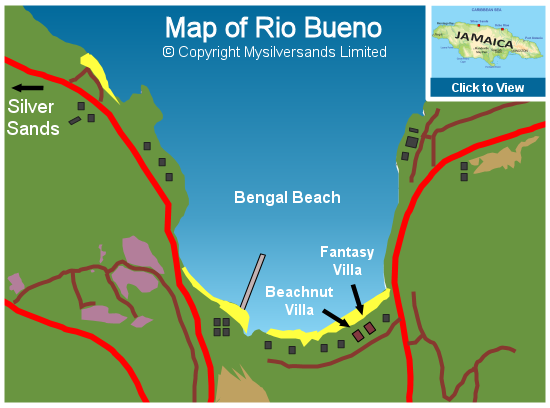 Map of Rio Bueno