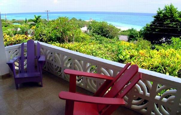 seagull cottage verandah with panoramic sea view