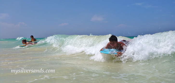 fun bodyboarding at silver sands jamaica