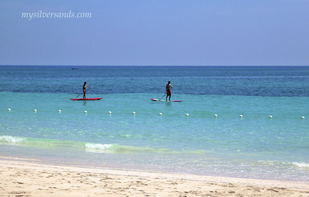 paddle boarding at silver sands jamaica