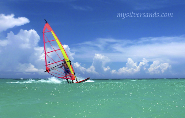 windsurfing at silver sands villas jamaica