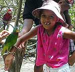 asha with parrot