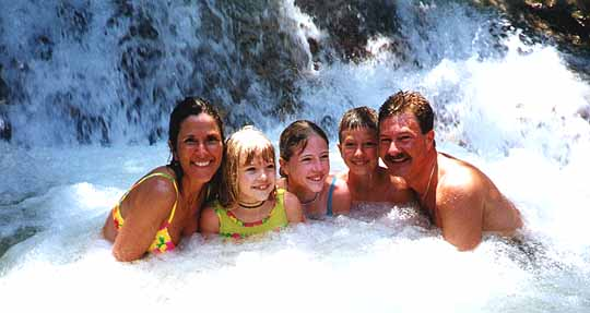 The Bengel family at dunn's river fall