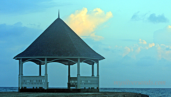 gazebo on jetty at silver sands jamaica