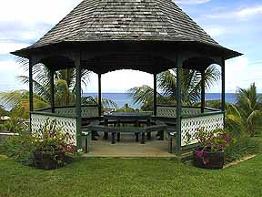 gazebo in the park at silver sands