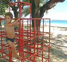 climbing frame at silver sands play area