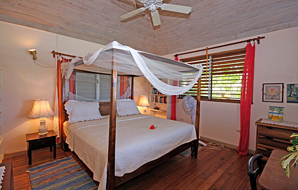 seashell cottage, silver sands jamaica, master bedroom