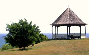 The Park with gazebo at the South side of Silver Sands with lovely sea views.