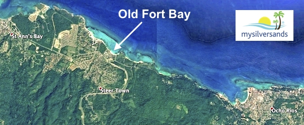 map of north coast showing location of old fort bay