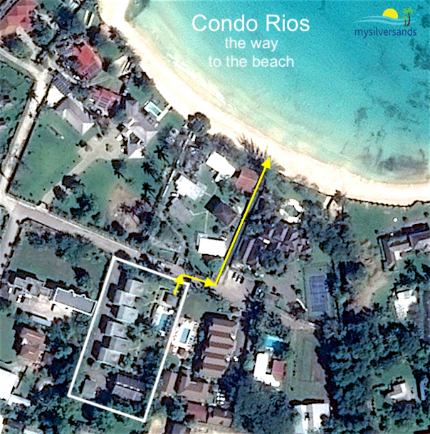 google earth view - condo rios way to the beach