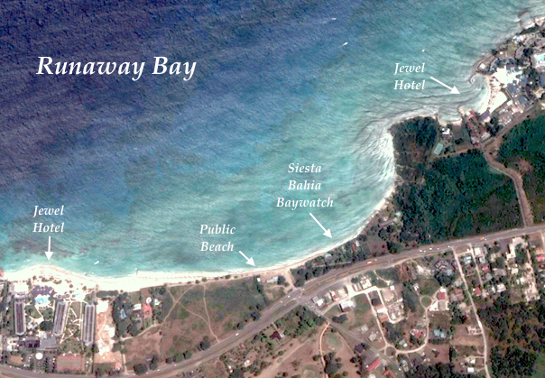 map of runaway bay in St ann jamaica