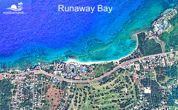 google earth view of runaway bay