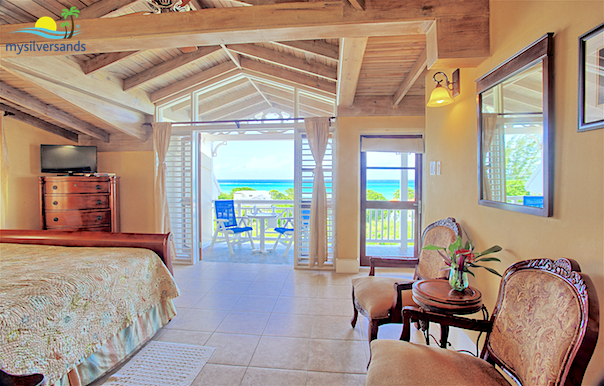 master bedroom opens to the balcony and sea view