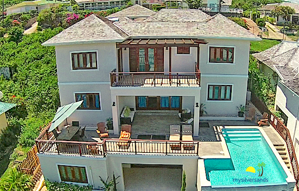 aerial view of sea dance villa