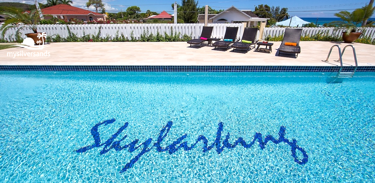 skylarking swimming pool and deck