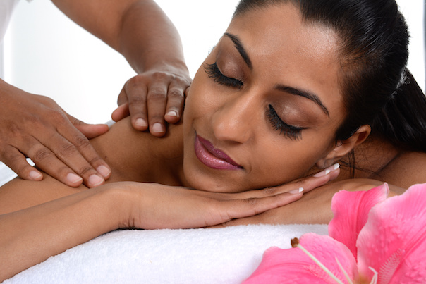 lady getting a massage