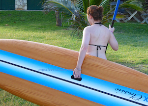 carrying paddle board