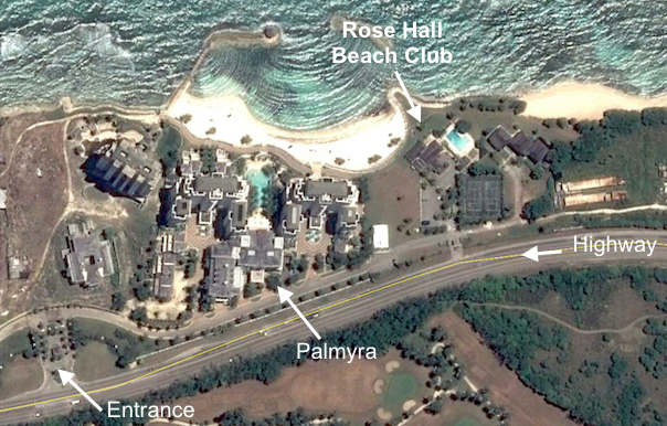 Google Earth View Of Rose Hall Beach Club And Palmyra