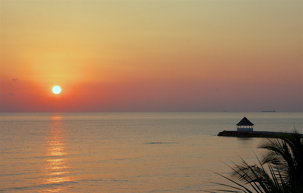 sunrise from Endless Summer Villa in Silver Sands Jamaica