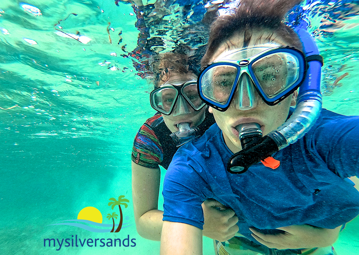 lea and randy snorkeling