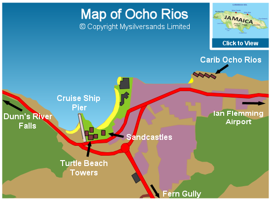 Map of Ocho Rios