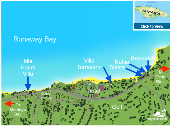 Map of Runaway Bay