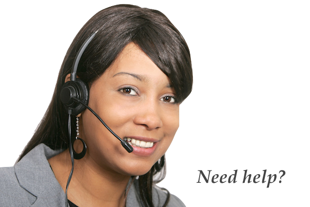 receptionist with head set
