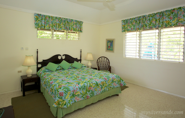 master bedroom of honeycomb villa at silver sands villas jamaica