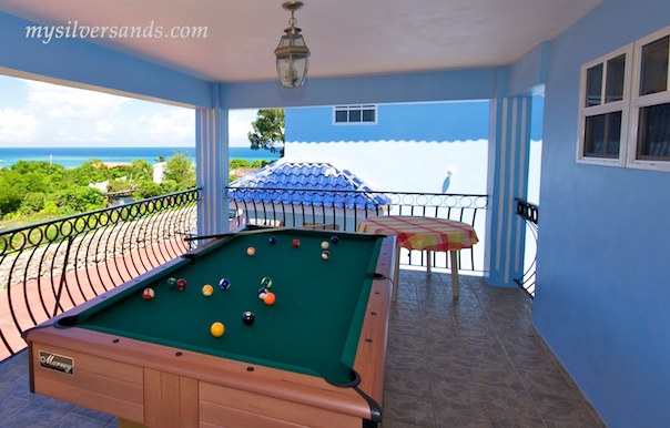 pool table at blue moon villa silver sands jamaica