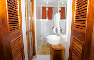 bathroom en suite of bedroom 4 at blue vista villa in silversands jamaica