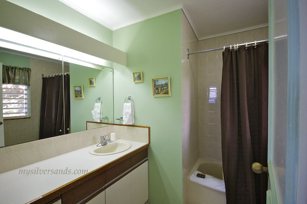 typical bathroom at honeycomb villas silver sands jamaica