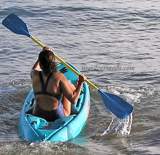 indian woman kayaking at silver sands villas jamaica