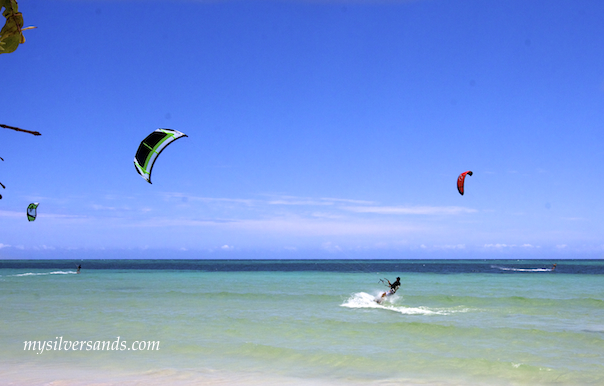geoff gibson kiteboarding at bounty bay near silver sands jamaica