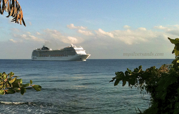cruise ship msc arriving at ocho rios jamaica