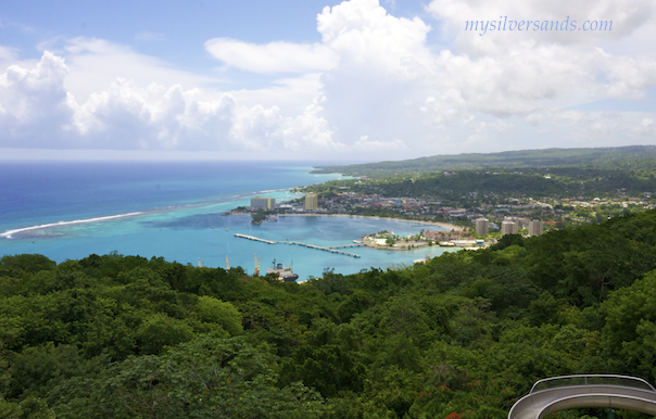 view of ocho rios and the coastline to the east from mystic mountain in jamaica