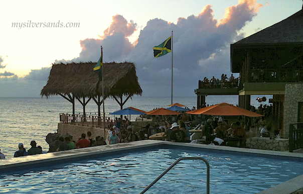 pool, bar, and lookout at Rick's Cafe', Negril, Jamaica