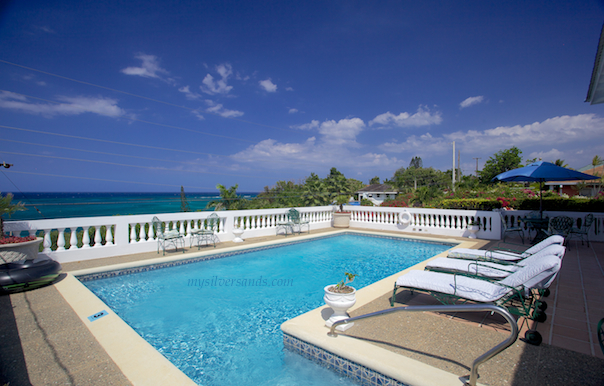 private pool and sea view at oh boy, silver sands villas jamaica