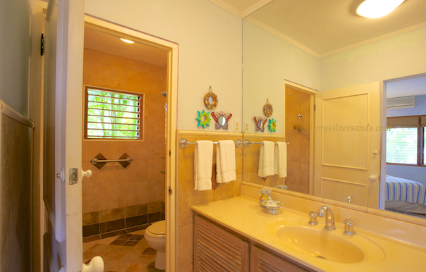 bathroom 2 en suite with shower at rock hill villa