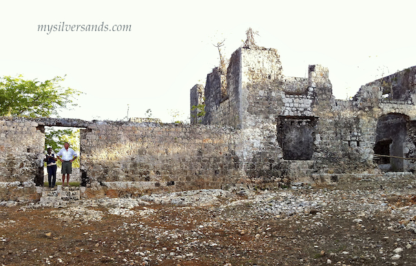 close-up of north side of the ruins of stewart castle, near flamouth and silver sands jamaica