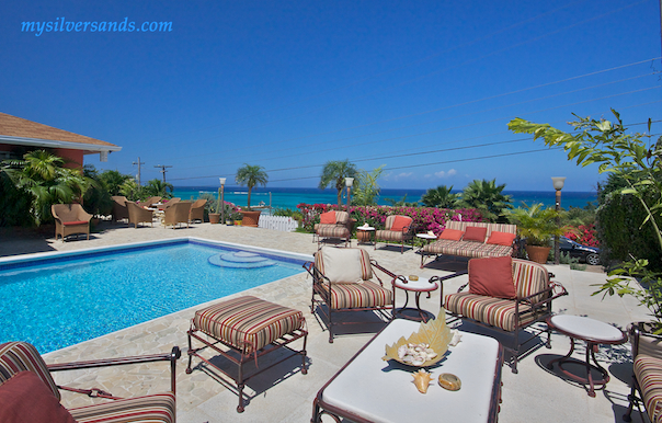pool and sea view at summertime villa silver sands jamaica